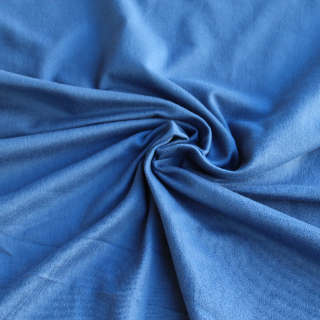 Double Brushed Poly Spandex Indigo Solid