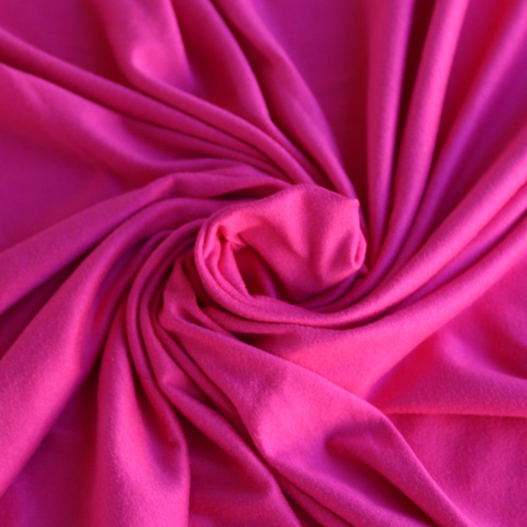 LA Finch Fabrics. Double Brushed Hot Pink Solid. DBP. Designer Fabrics