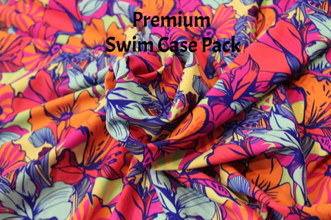 End of Bolt: 3 Yards of  Ailani Floral Swim Case Pack