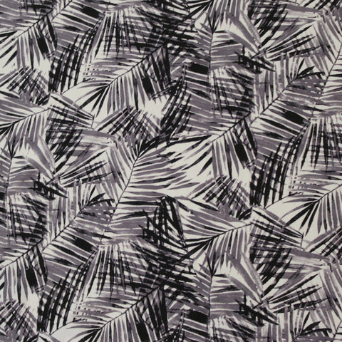 End of BOlt : 2-1/4th yards of Premium Francesca Black and White Nylon Spandex Knit