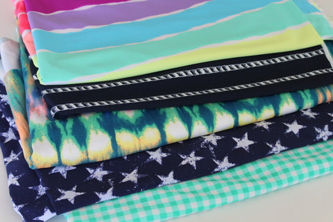 End of Bolt: Nylon Spandex Swim Printed 8 Yard Case Pack