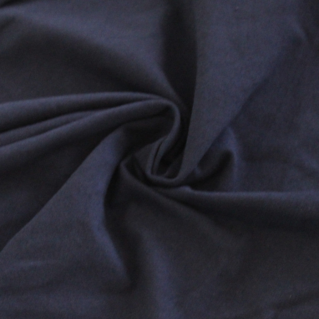 Navy Cotton Spandex 14 oz Solid
