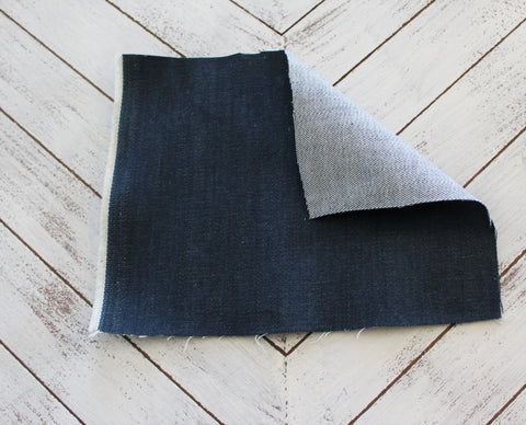 End of BOlt: 2-3/8th yards of Fashion Denim Italian Candiani 10 oz Indigo