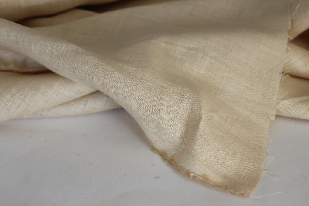 Pure Natural Tan Linen Solid