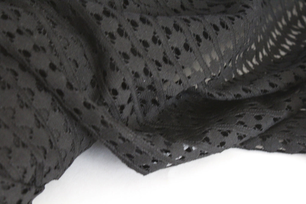 Famous Maker Cotton Black Lace Woven