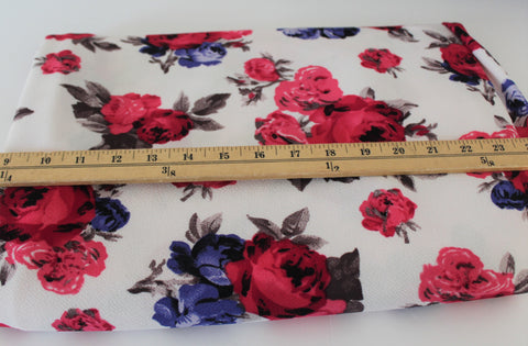 End of Bolt: 2-1/4th yards of Floral Liverpool Knit