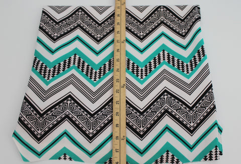 End of Bolt: 4 yards of Zig Zag Techno Scuba Knit