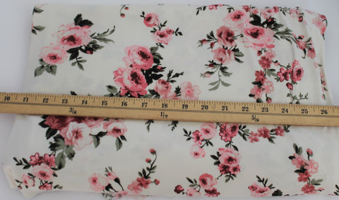 End of BOlt: 1.5 yards of Double Brushed Romantic Floral Knit