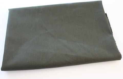 End of Bolt: 2.5 Yards of Fashion Stretch Denim Olive Green Finish