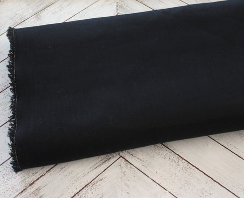 End of Bolt: 2.5 Yards of Fashion Cotton  Spandex Black Stretch Twill