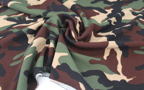 End of Bolt: 4-5/8th yards of Liverpool Camouflage Knit