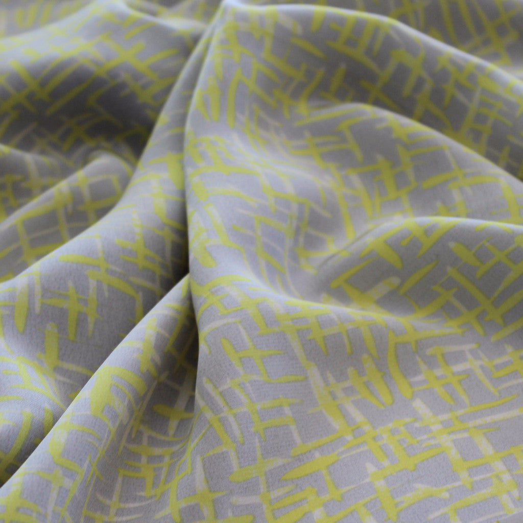 Subtle Abstract Silk Crepe De Chine