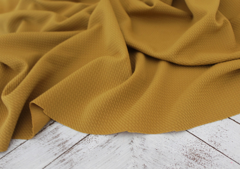 Paola Textured Mustard Bullet Liverpool Knit