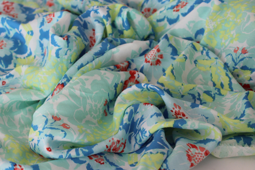 Shayla Rayon Floral Voile