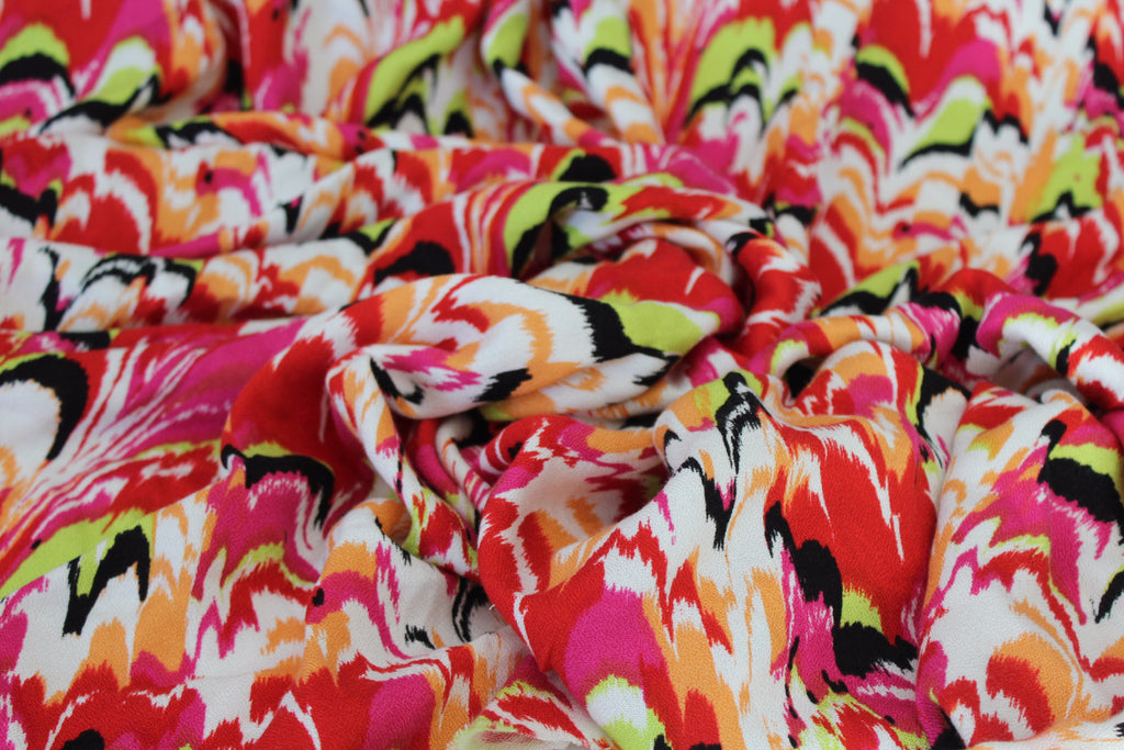 Miami Abstract Rayon Crepe