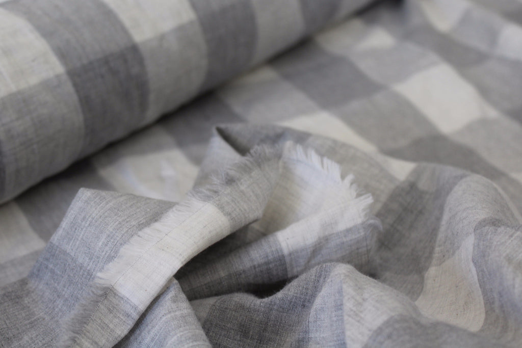 Pewter Checkered Plaid Woven