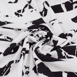 Designer In the Blinds Black and White Rayon Challis