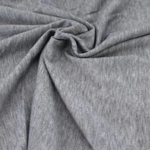 Designer French Terry Heather Grey Knit