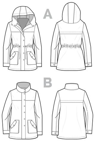 Pattern for Garment Making: Kelly Anorak Jacket Pattern by Closet Core Patterns
