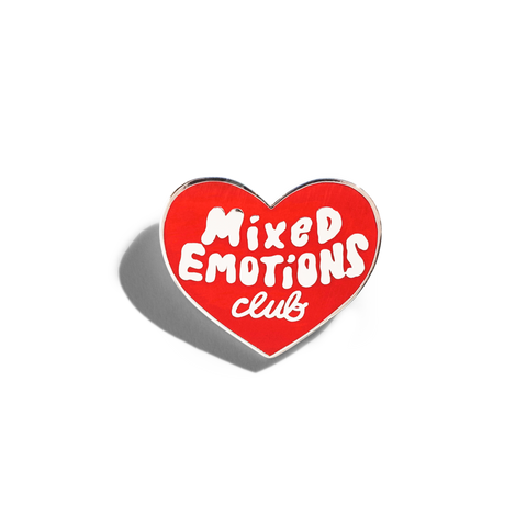 Lapel Pin Mixed Emotions Club Pin