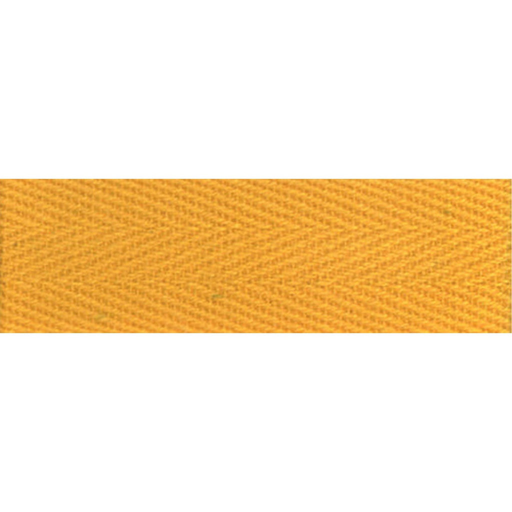 "Notion: Yellow 1/2"" Cotton Twill Tape- 55 yards"