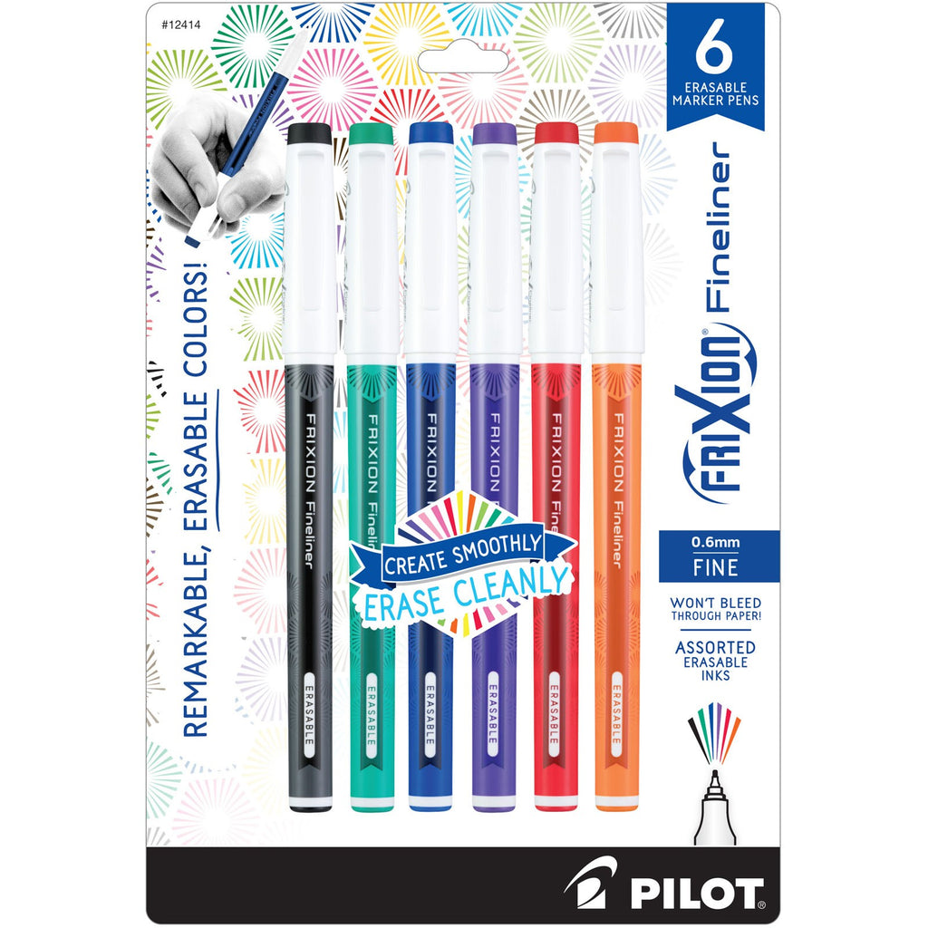 Notions: Primary Assortment  Frixion Fineliner Pens -6 Pack