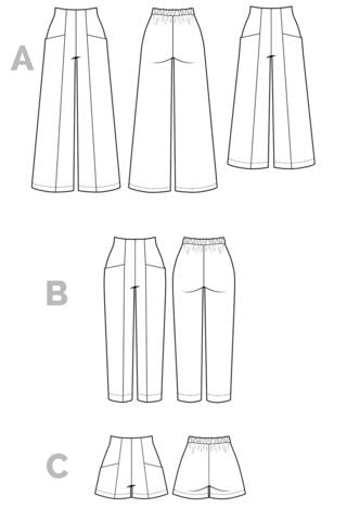 Pattern for Garment Making: Pietra Shorts & Pants by Closet Core Patterns