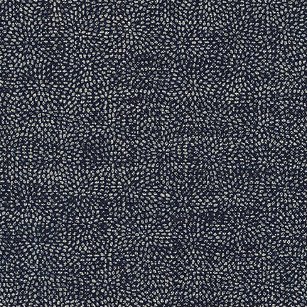 Kaufman Sevenberry Nara Homespun Geometric Optical Illusion Indigo Woven 5.37oz-By the yard