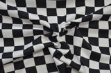 End of BOlt: 1.5 yards of Double Brushed SKA Checkered Knit