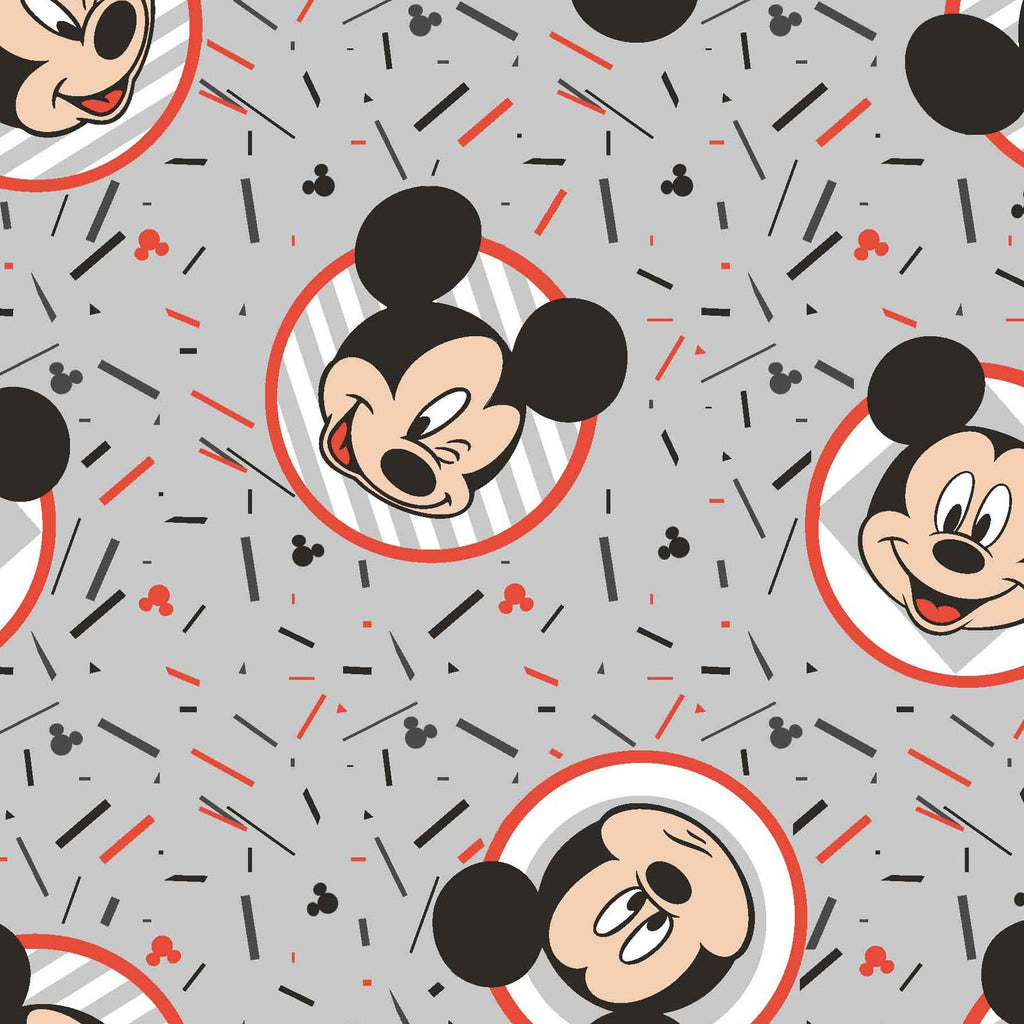 Licensed Mickey Confetti Party Cotton Woven- Sold by the yard