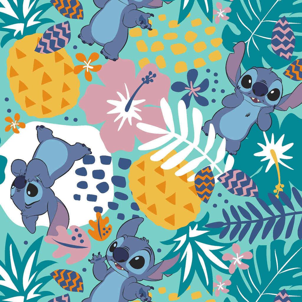 Licensed Disney Lilo & Stitch in the Jungle Cotton Woven- Sold by the yard
