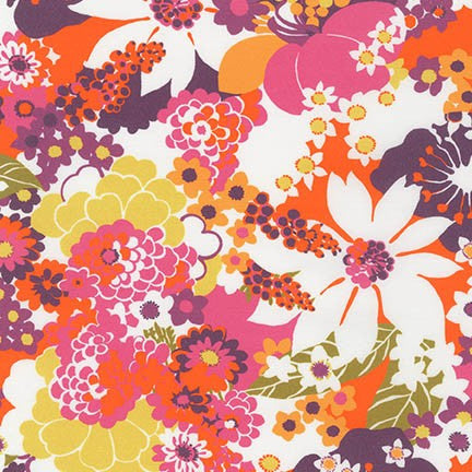 End of Bolt: 2 7/8th yard of  Cotton Stretch Poplin Petunia Floral Woven