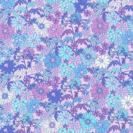 End of Bolt: 1.5 yards of London Calling 9 Mixed Garden Floral Cotton Lawn 2.89 oz -Remnant