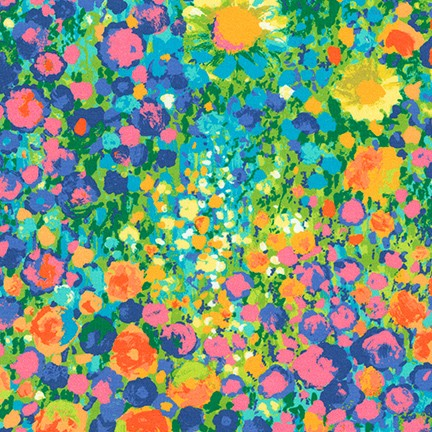Painterly Summer Sunflower Petals Digitally Printed Fashion Cotton Lawn 2.89 oz- Sold by the yard