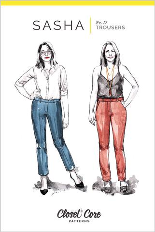 Pattern for Garment Making: Sasha Trousers Pattern/ Pants by Closet Core Patterns