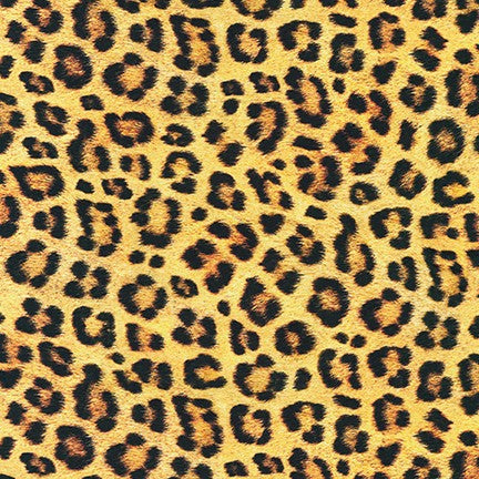End of Bolt: 2-5/8th yards of Animal Kingdom Leopard Cotton Lawn- remnant
