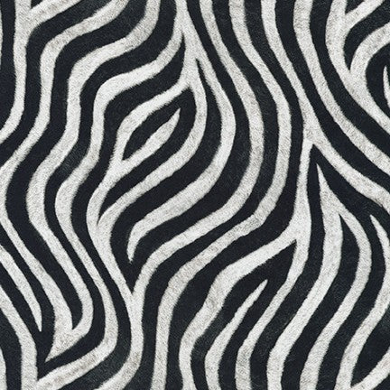 End of Bolt: 2-5/8th yards of  Animal Kingdom Zebra Cotton Lawn- remnant