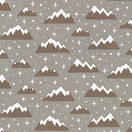 End of Bolt: 4 yards of Kaufman Arctic Smoke Mountain Woven