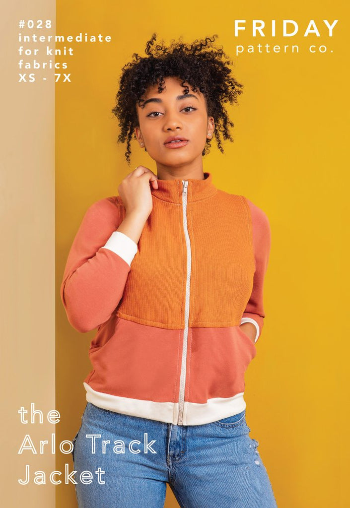 Garment Making Patterns: Arlo Track Jacket by Friday Pattern Co.