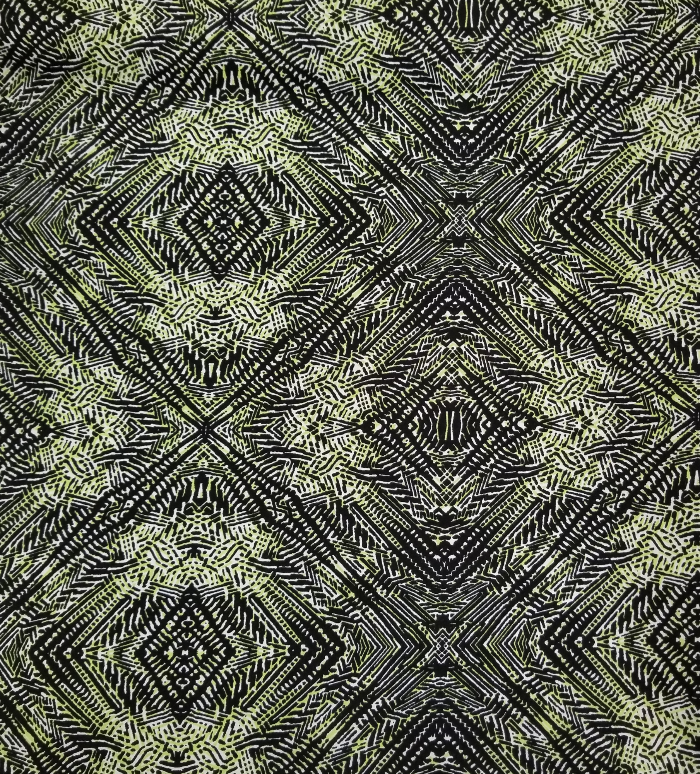 End of Bolt: 1/2 Yard of Lime Green Trinidad Designer Rayon Challis Woven- Remnant