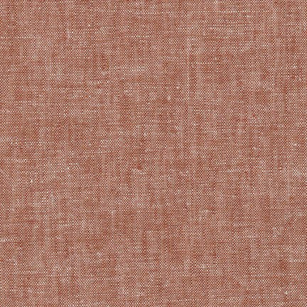 Yarn Dye Brussels Washer Rayon Linen Redrock Hue 6 oz- By the Yard
