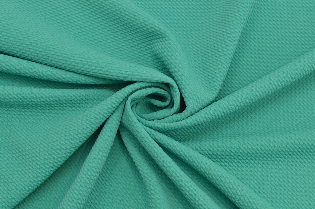End of Bolt: 2.5 yards of Paola Textured Mint Bullet Liverpool Knit