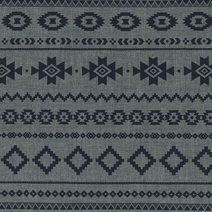 End of Bolt: 3 yards of Ethnic Print Chambray Blvd Print Woven