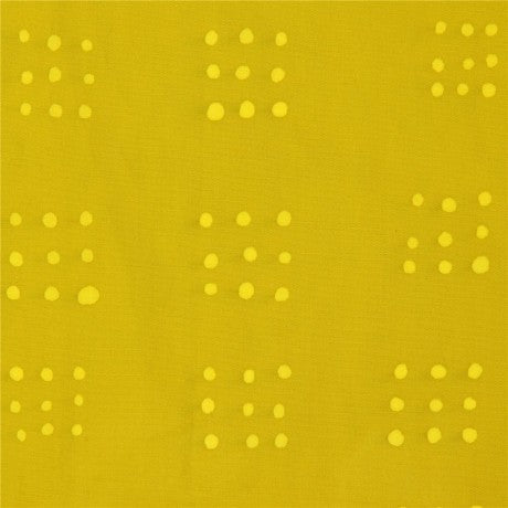 Kaufman Mark to Make Chartreuse Dots Woven