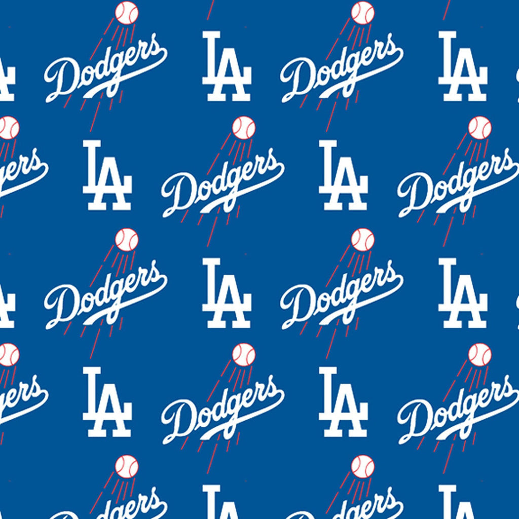 Licensed MLB Blue Los Angeles Dodgers 100% Cotton Woven- Sold by the yard