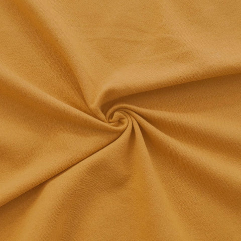 Mustard Cotton French Terry