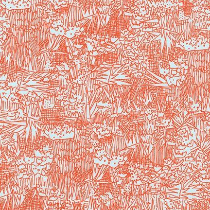 End of Bolt: 1-3/4th yards of Rayon Shirting Lawn Flame-Remnant
