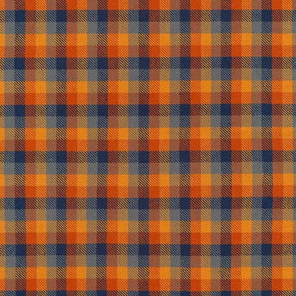 End of Bolt: 4 yards of Grizzly Plaid Sunset Woven