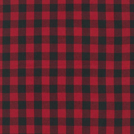 Kaufman House of Wales Red Plaid Woven