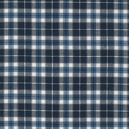 Kaufman Indigo Cotton Plaid Shirting